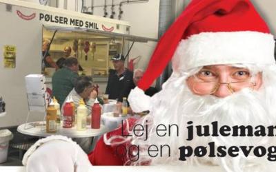 Lej en julemand og en pølsevogn