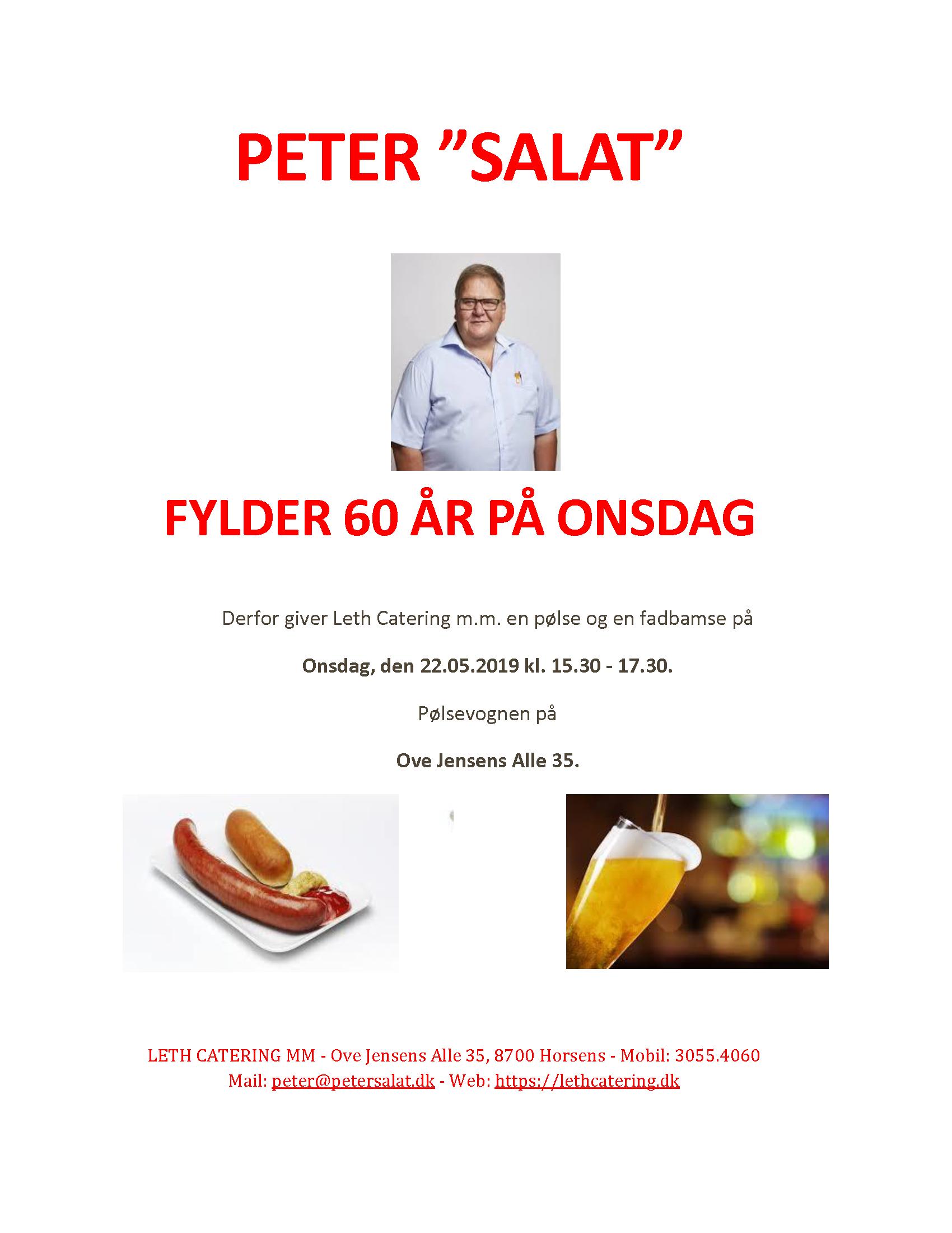 Peter salat 60 år - pølsevogn