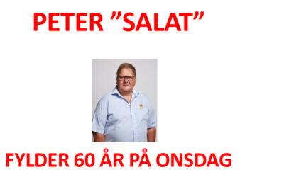 Peter Salat fylder 60